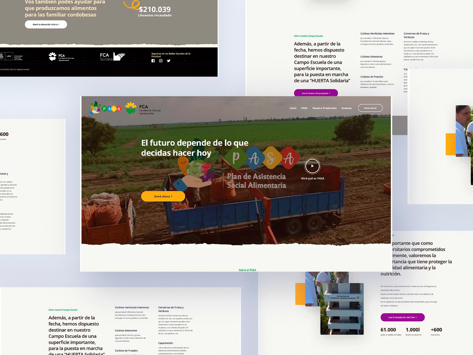 PASA – Plan de Asistencia Social Alimentaria- UNC